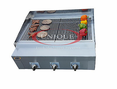 3 Burner Unique Commercial Char Grill Charcoal Grill  Gas BBQ Steak Grill