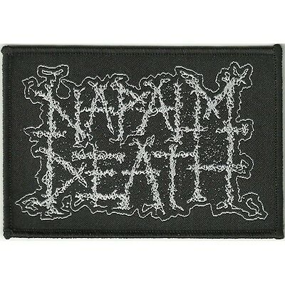 "Napalm Death ""Logo"" Woven Patch - NEW OFFICIAL scum utilitarian apex predator"