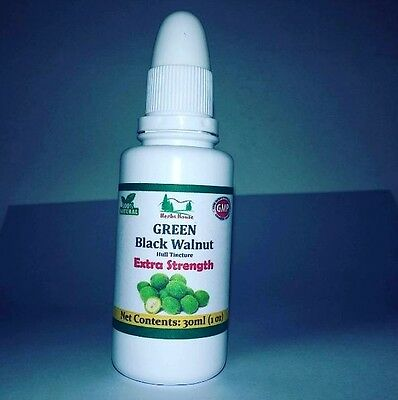Green Black Walnut Hull Tincture - Extra Strength - Non Alcoholic