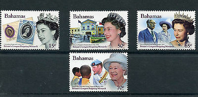 Bahamas 2015 MNH Queen Elizabeth II Longest Reigning Monarch 4v Set Stamps