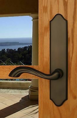 FPL Normandy Entry Door Lever Set and Back Plates with Deadbolt