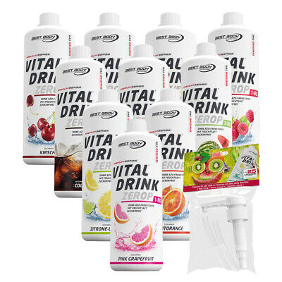 8,49€/Ltr. Best Body Nutrition Low Carb Vital Drink 10 Flaschen + 1 Dosierpumpe