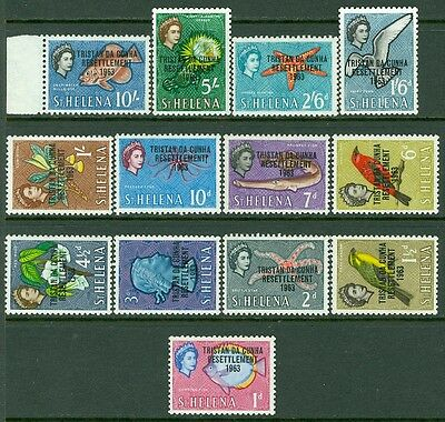 TRISTAN : 1963 Settlement set Complete. Very Fine, Mint Never Hinged.