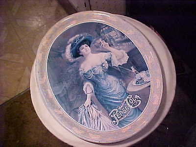 VINTAGE PEPSI COLA Victorian Lady TIN ADVERTISING Serving tray 5cent Soda OLDER