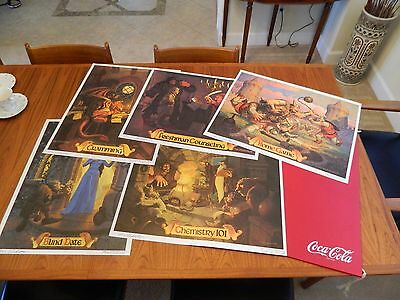 "1980's Coca-Cola Hildebrant Brothers EACH AUTOGRAPHED  18""x 23"" (5) poster set"