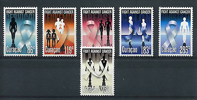 Curacao 2014 MNH Fight Against Cancer 6v Set Medical Health Leukemia Stamps