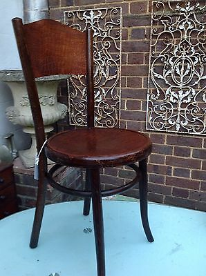 Antique Bentwood Chair Fischer Faux Snakeskin Reptile Seat