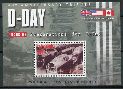 Gambia 2004 MNH D-Day 60 Operation Overlord 1v S/S Second World War WWII Stamps