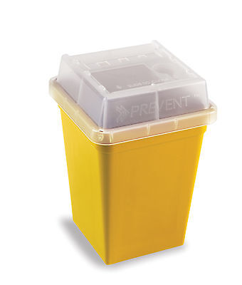 Heathrow Scientific Hs120178 Sharps Container 1L Yell (Case Of 18)