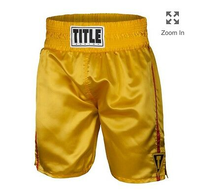 Title Boxing Trunks, Boxing Shorts Men's Large Yellow And Red InvJ