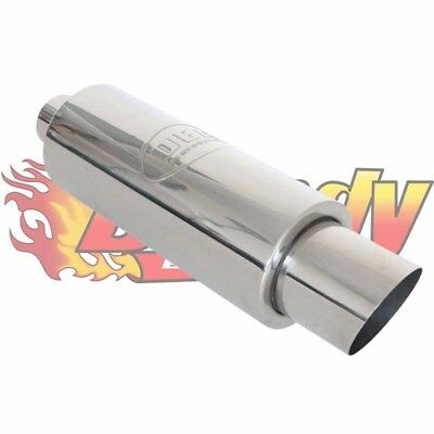 "Dea Stainless Steel Sports Cannon Muffler 3"" Inch Inlet With 4"" Tip"