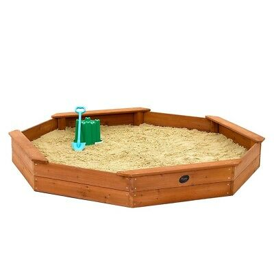 NEW Plum Wooden Large Octagonal Sand Pit Sustainable Timber Outdoor Play Kids