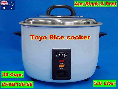 TOYO Commercial Rice Cooker 5.6 Liter/30 Cups Cooking/Keep Warm CFXB 130-58 New