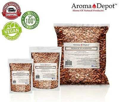 Whole Brown Grain Flax Seed Organic Omega-3 NON GMO Gluten Free 1oz to 20lb Lino