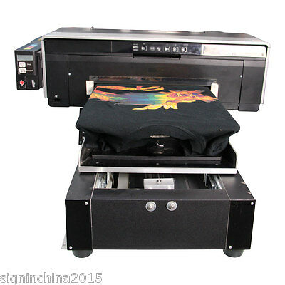 """1.7"""" x 16.5"""" A3 Size Calca DFP2000 T-shirt Flatbed Printer with Rip Software"""