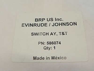 Evinrude Johnson Outboard Trim and Tilt Switch Assy Factory OEM P# 586074