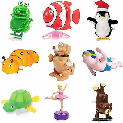 Clockwork Wind Up Kids Toy Children Birthday Party Bag Filler Christmas Stocking
