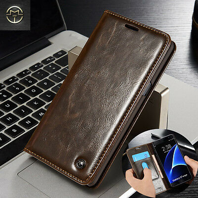 Luxury Magnetic Leather Flip Wallet Case Cover For Samsung Galaxy A3 A5 A7 2017
