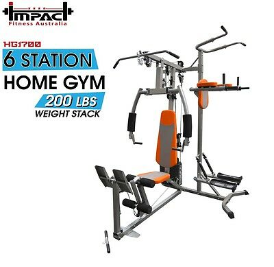 Home Gym Multi Station Chest Press Lat Pull Down Power Tower Leg Stepper