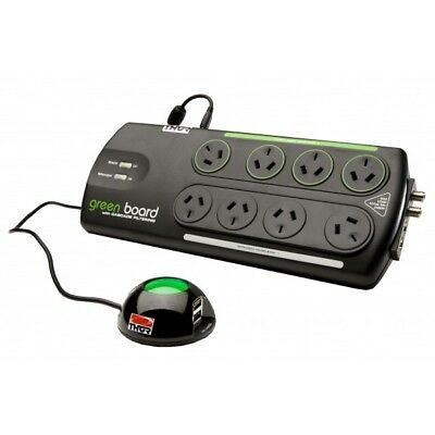 NEW Thor B12R Green 8x Socket Power Saving Surge Protector