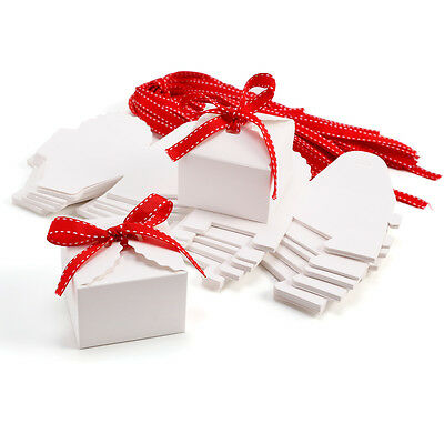 50 Luxury Wedding Party Xmas Sweets Cake Candy Gift-Favour Favors Boxes