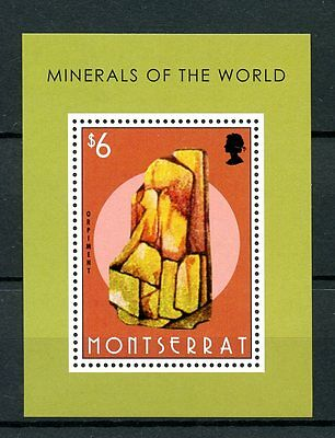 Montserrat 2013 MNH Minerals of World 1v S/S Rocks Orpiment Stamps