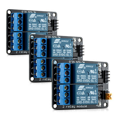 3x kwmobile 2 channel relay module with 5V for Arduino