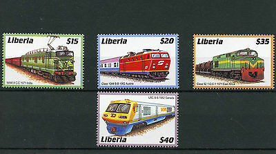 Liberia 2003 MNH Trains of World 4v Set Railways Chemin de Fer Stamps