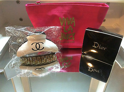 Mixed Lot Makeup Juicy Couture Chanel Christian Dior NEW AS NEW SWATCHED 3 ITEMS
