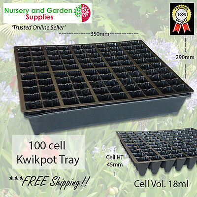 100 cell Kwikpot plastic Seedling Propagation Plant Tray