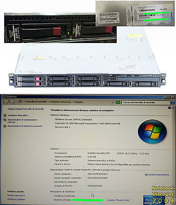 Server Hp Proliant Dl320-G6 Windows Server 2008 R2 Std 6 Gb Xeon E5630 2X250Gb