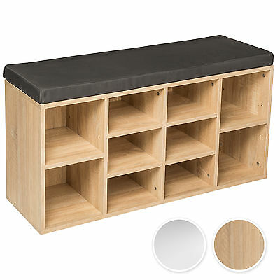 Shoe rack storage stand with seat wooden bench shelf organiser shelves