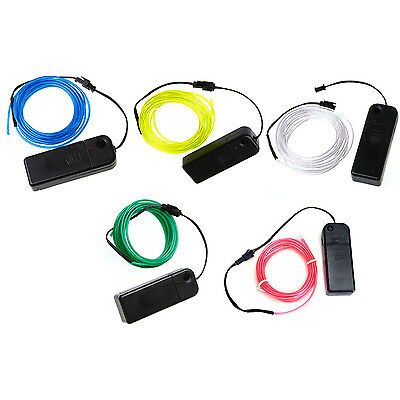 Neon Glowing Electroluminescent Wire (El Wire) with Battery Pack Controller BEB