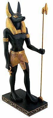 "Anubis Standing or Sitting, Ancient Egypt Resin Figurine, 8"" Tall or 10"" Long"