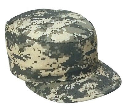 Mens Military Hat - Fatigue Cap, ACU Digital Camo by ROTHCO Ultra Force S M L XL