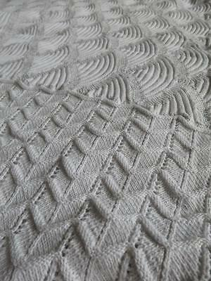 Lovely Antique  Victorian Heavy Knitted Bed Cover