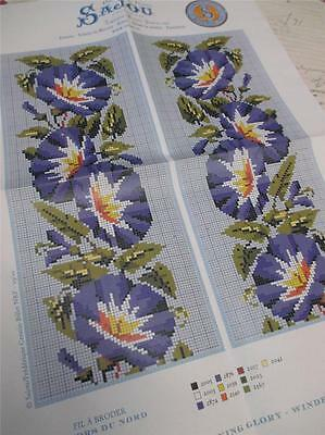 Sajou Berlin Woolwork Chart- Cross Stitch/ Petit Point-  Morning Glory