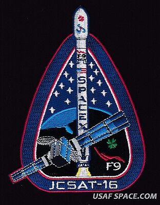 NEW JCSAT-16  SPACEX ORIGINAL FALCON 9 F-9 USAF NASA SATELLITE Mission PATCH