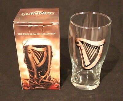 Guinness One Pint Vintage Glass -halloween edition set of two