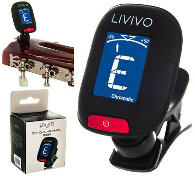 Livivo Lcd Guitar Tuner Clip On Chromatic Acoustic Electric Bass Ukulele Banjo
