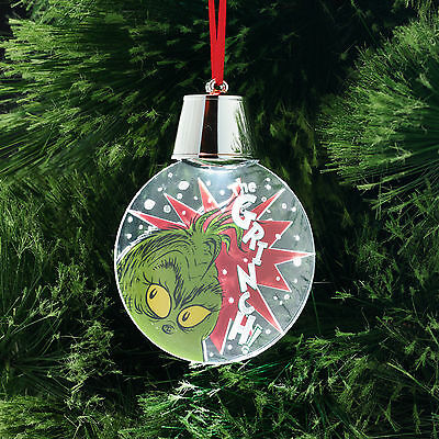 4051642 The Grinch Holidazzler Led Dr Seuss Christmas Dept 56 Holiday Ornament