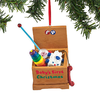 4051731 Fisher Price Toy Chest  Christmas Dept 56 Holiday Ornament Rings