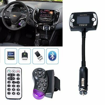 Car FM Transmitter Wireless Bluetooth MP3 Player USB Disk SD LCD Remote Handsfre