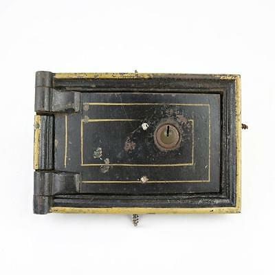 Antique Mail Box Door Lock Early 1900s, Iron Bank Box? Heavy c1900