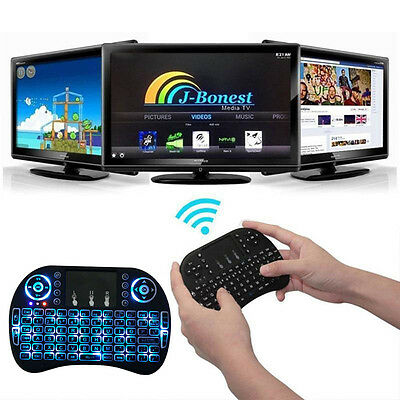 Mini Wireless 2.4Ghz Keyboard Backlit, Perfect for Raspberry Pi PC / Android bd