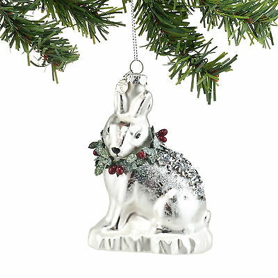 4054357 Wild Snow Rabbit Christmas Dept 56 Holiday Ornament Animal Winter Wht