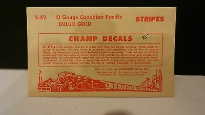 Champ O Scale Decal Set #S-42 Canadian Pacific Stripes, Dulux, NOS