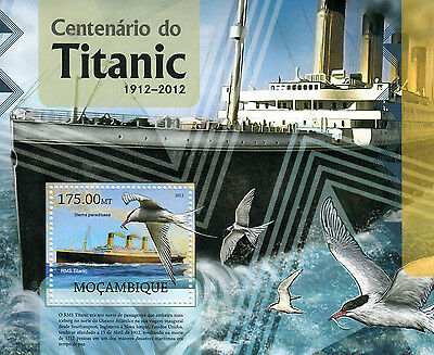 Mozambique 2012 MNH Titanic Cent Sinking 1v S/S Ships Boats Birds Tern Stamps
