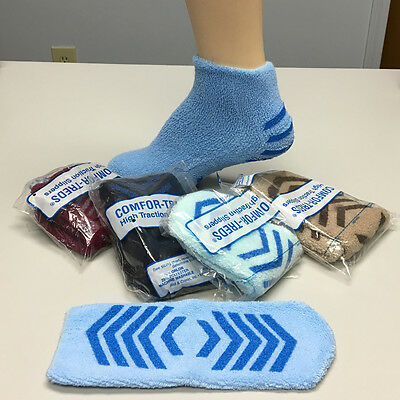 Terry Hospital Socks High Traction Slippers  -  2 Pairs, FREE SHIPPING