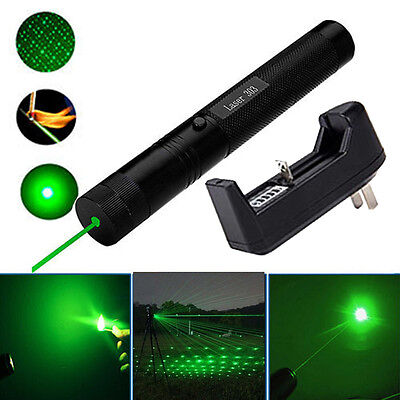 532nm 5mw 303 Green Laser Pointer Lazer Pen Beam+Charger Modish New for 18650 FH